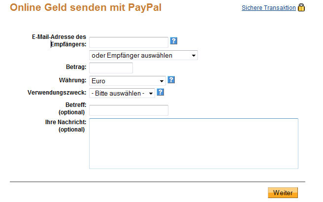 paypal limits einstellen