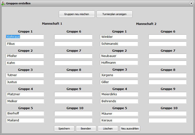 Turnierplan Erstellen Freeware